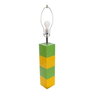 Yellow Green Mid-Century Modern Table Lamp For Sale