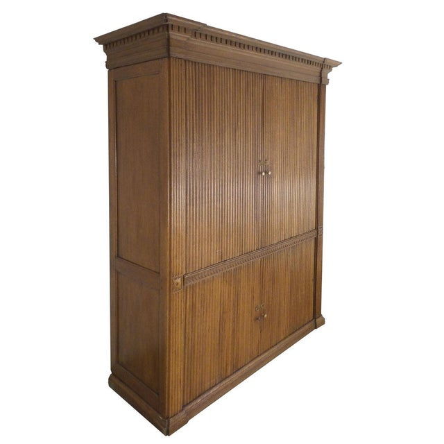 Campaign 18th Century French Tambour Cabinet For Sale - Image 3 of 6