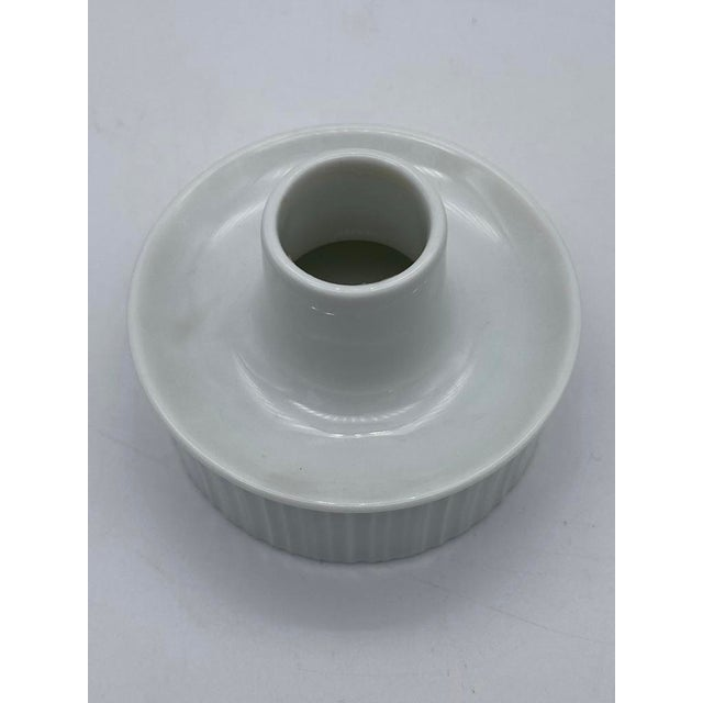 Late 20th Century Tapio Wirkkala for Rosenthal Porcelain Candle Holders For Sale - Image 5 of 7