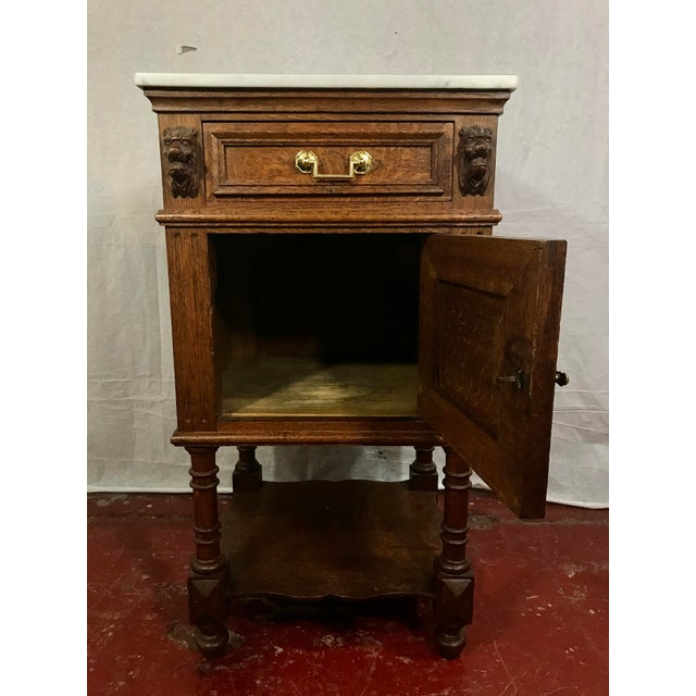 Pair of Oak Belgian 19th Century Side Tables For Sale - Image 9 of 13