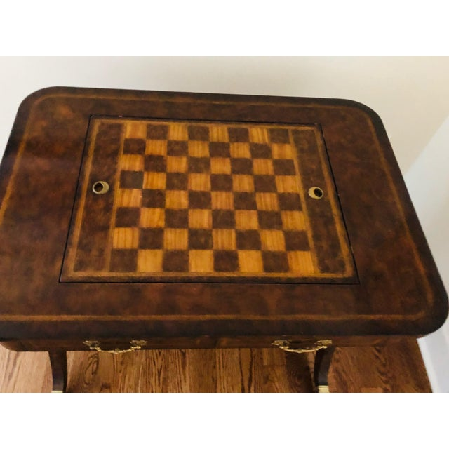 1990s 1990s Maitland-Smith English Regency Game Table For Sale - Image 5 of 13