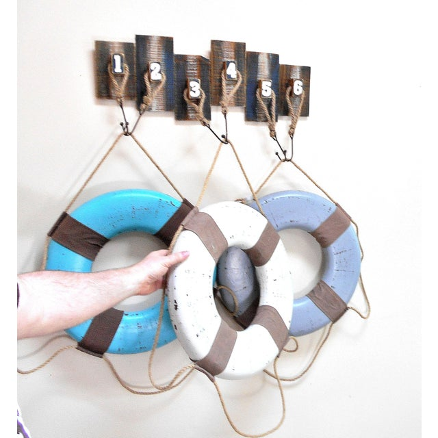 Vintage Life Rings & Weathered Nautical Wall Decor - Image 9 of 9