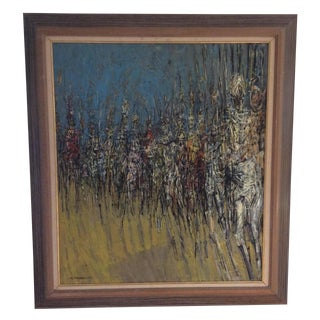 Stephen Magada Mid-Century Oil Painting on Canvas For Sale