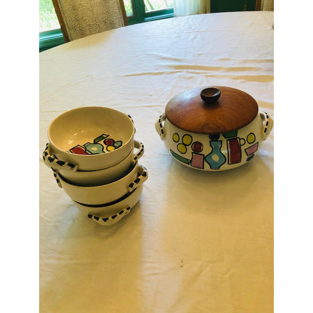 Vintage French Style Soup Set - 5 Piece Set For Sale - Image 10 of 10