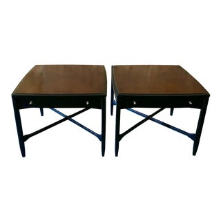 Mid-Century Modern Brown and Black Night Stands