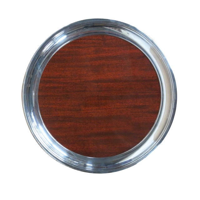 Retro Silver and Formica Platter - Image 1 of 4