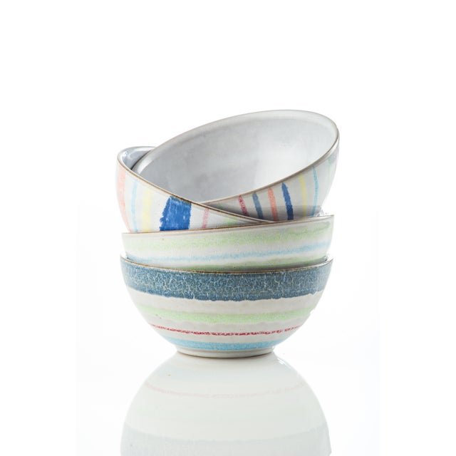 Contemporary Cantina Ceramic Bowls - Set of 4 For Sale - Image 3 of 3