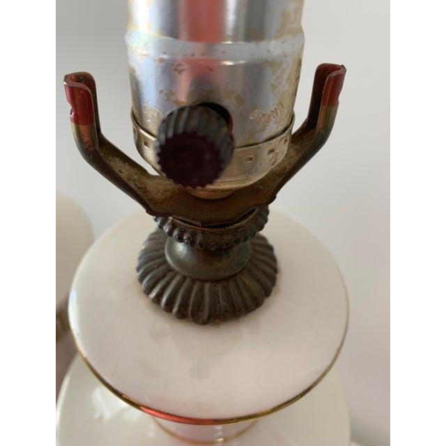 Metal Regency Greek Key Table Lamps - a Pair For Sale - Image 7 of 12