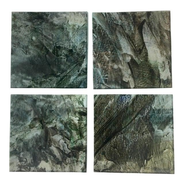 Upcycled Glass Coasters - Set of 4 - Image 1 of 8