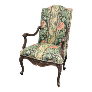 Louis XV Carved High Back Chair For Sale