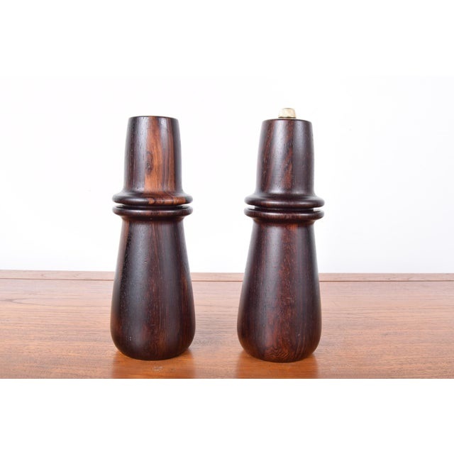 Mid-Century Modern Digsmed of Denmark Rosewood Peppermill and Matching Salt Shaker For Sale - Image 3 of 5