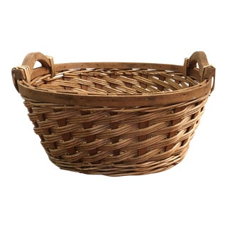 Vintage French Rustic Woven Basket