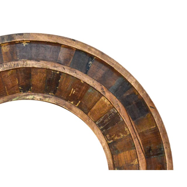 """This beautiful 36"""" Round solid wood Rustic Parquet mirror frame will add an eye-catching style to any room and bring a..."""