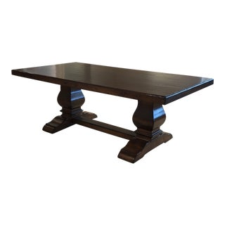 Robert Allen Dual Pedestal Dining Table For Sale