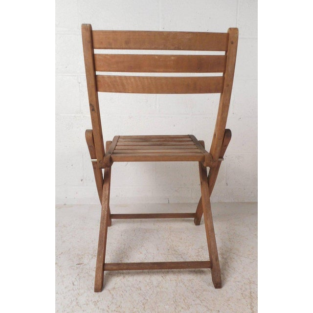 Vintage Modern Wood Folding Chairs - Set of 5 For Sale - Image 5 of 11