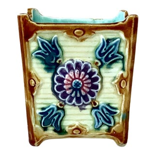 French Majolica Jardiniere Onnaing ,Circa 1890 For Sale