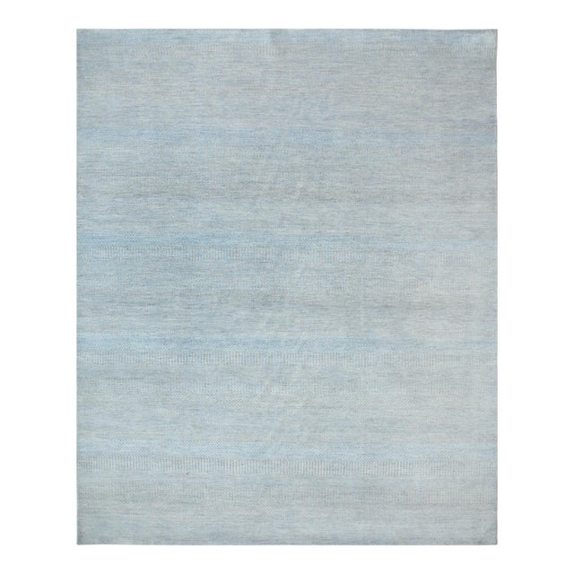 """Contemporary Hand Loomed Area Rug 7' 11"""" x 9' 11"""" For Sale - Image 9 of 9"""