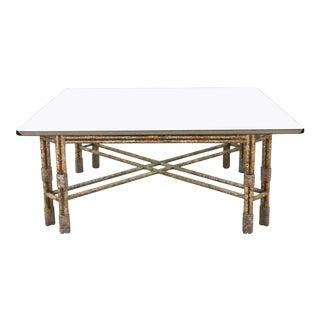 Metal Distressed Rustic Coffee Table