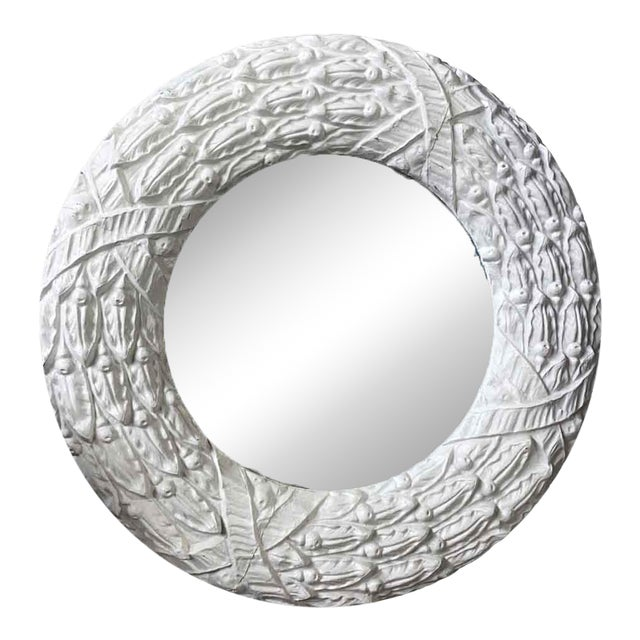 Antique Zinc Window Surround Circular Mirror For Sale