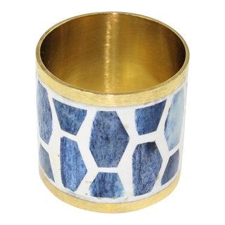 Casa Cosima Arlington Napkin Ring in Indigo For Sale