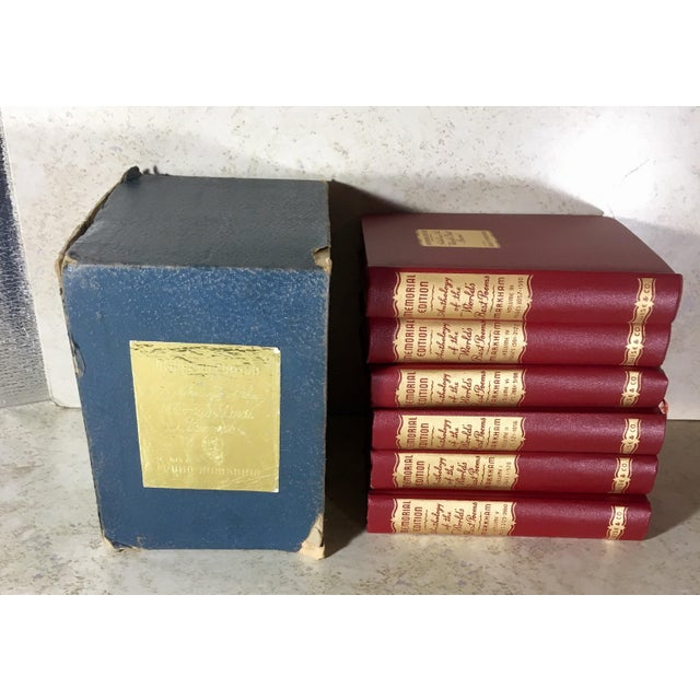 "Vintage 1950 Edition ""Anthology of the Worlds Best Poems"" Books - Set of 6 For Sale - Image 12 of 13"