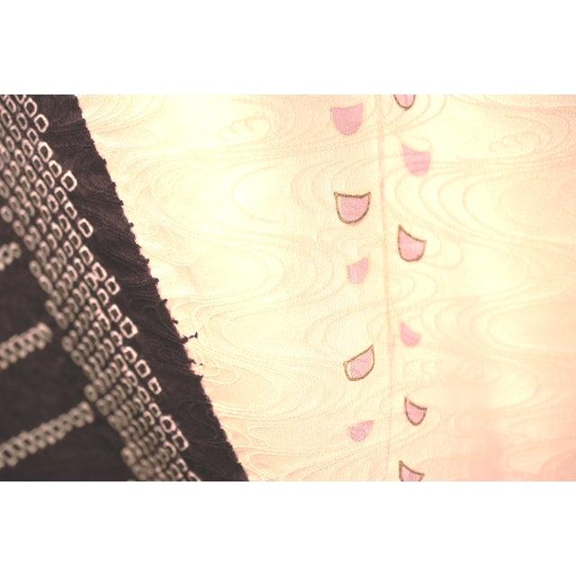 Vintage Silk Traditional Furisode Kimono - Image 8 of 9