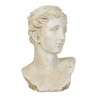 Neoclassical Female Head Planter For Sale