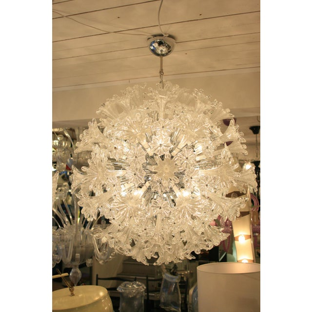 Italian Espirit Glass Ceiling Light - A Pair For Sale - Image 3 of 5
