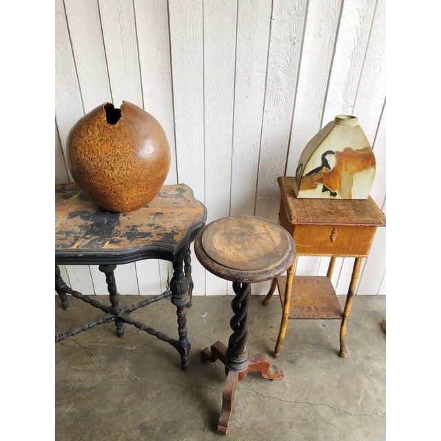 Ceramic Studio Pottery Slab Vase For Sale - Image 7 of 8