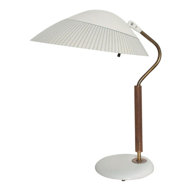 Modern Mid-Century Clamshell Table Desk Lamp by Gerald Thurston for Lightolier 1950s For Sale