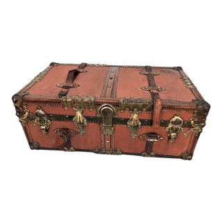 Steamer Trunk With Fitted Interior For Sale