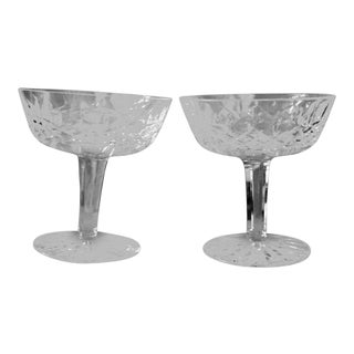 Vintage Lismore Waterford Crystal Champagne Glasses - a Pair For Sale