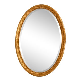 Friedman Brothers Model #6463 Oval Gold Framed Mirror For Sale