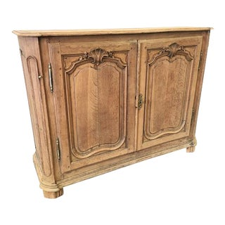 Antique French Louis XV Style Bleached Oak Sideboard