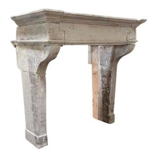 Louis XIII Antique Limestone Mantel