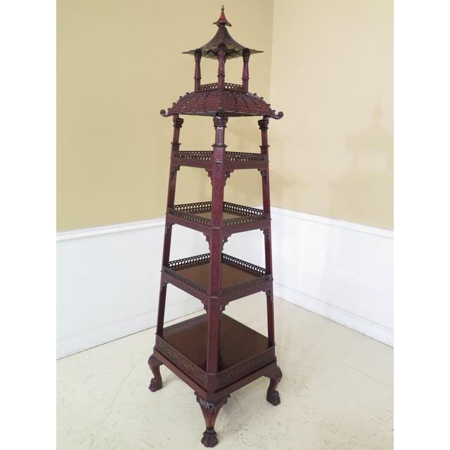 Kindel Mahogany Pagoda Vitrine For Sale - Image 10 of 13