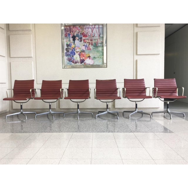 Eames Swivel Chairs for Herman Miller - a Set of 6 For Sale - Image 11 of 12