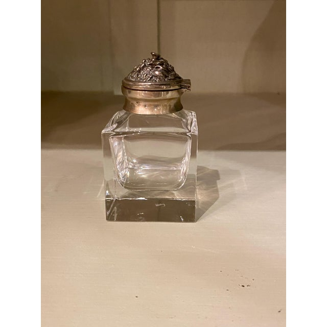 19th Century Italian Silver Top Ink Well For Sale - Image 5 of 6