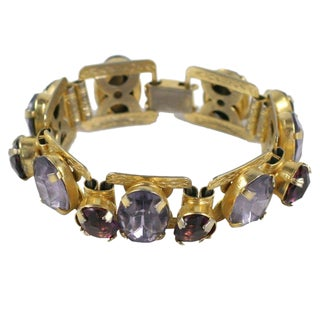 """Smokey Topaz"" and ""Amethyst"" Bracelet For Sale"