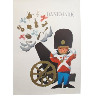 1960s Vintage Danish Royal Guard Poster For Sale