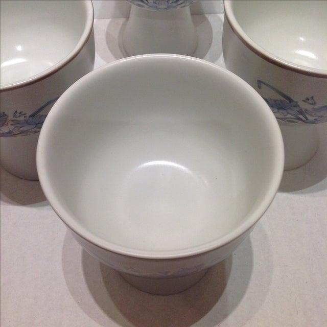 Royal Doulton Blue Flower Goblets - 6 - Image 5 of 6