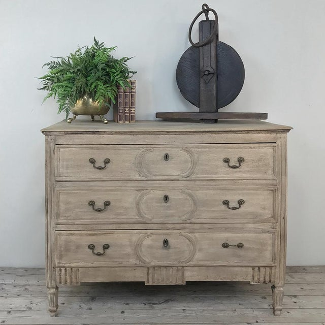 18th Century Country French Stripped Oak Provincial Commode was made for the casual decor with a touch of French...