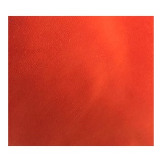Schumacher Orange Velvet Fabric - 1 Yard