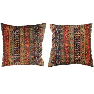 1990s Boho Chic Persian Accent Pillows - a Pair For Sale