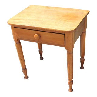 19th Century Early Maple End Table from Pennsylvania Farm House For Sale