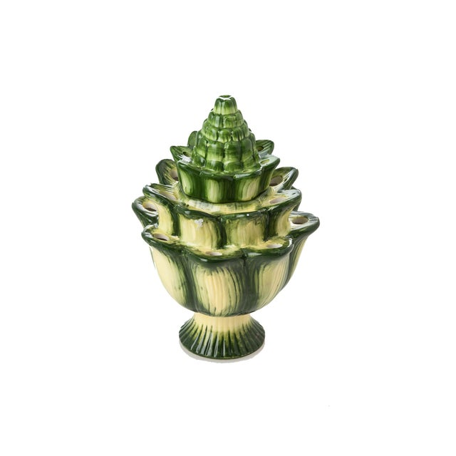 Contemporary Small Green Artichoke Tulipiere For Sale - Image 3 of 3