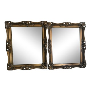 1870s Antique Gold/Gilt Wood Picture Frames - a Pair For Sale