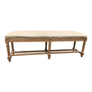 Vintage French Long Bench For Sale