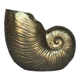 Nautilus Gold Vase For Sale