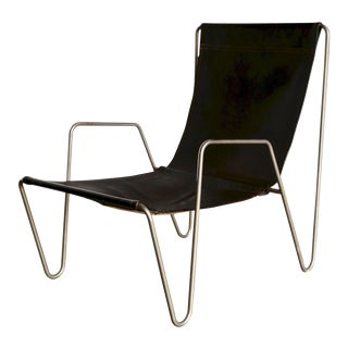 Mid Century Verner Panton for Fritz Hansen Leather Bachelor Chair For Sale